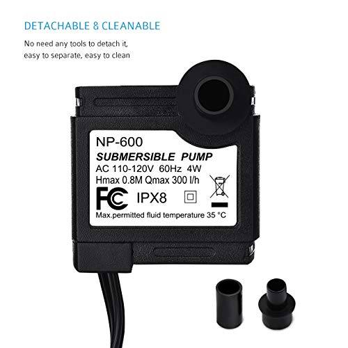 Aeropost Com Chile Victsing 80 Gph 300lh 4w Submersible Water Pump For Pond Aquarium Fish Tank Fountain Water Pump Hydroponics With 59 18m Power Cord