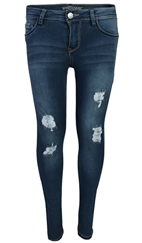 WallFlower Girls Insta Soft Jeans, Medium Rip