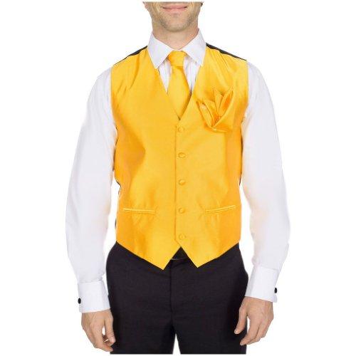 S-14-VTHA-XL - Formal Vest Tie Bow Tie Hanky Set by Buy Your Ties