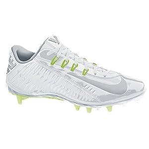 Nike Mens Vapor Carbon Elite 2014 TD Football Cleats, White/Metallic Silver (13)