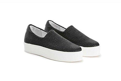 women 37Y0 stretch plateaux sneakers FRAU Black on Nero slip shoes qRxnEd7w