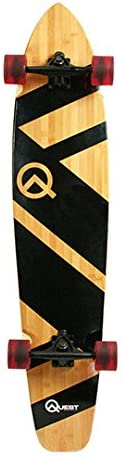 "Quest QT-NSC44C The Super Cruiser The Original Artisan Bamboo and Maple 44"" Longboard Skateboard / US"