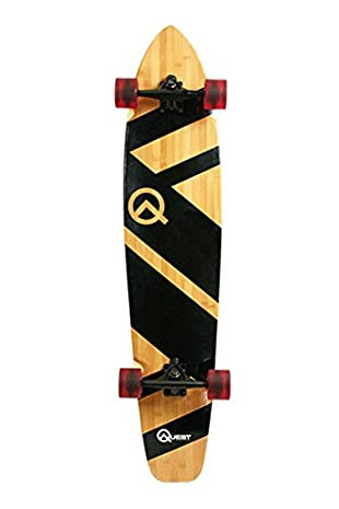 Quest Super Cruiser Artisan Bamboo Longboard Skateboard, 10 x 44-Inch Review
