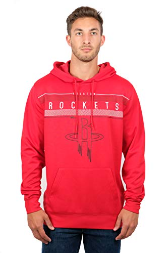 NBA Houston Rockets Men's Fleece Hoodie Pullover Sweatshirt Poly Midtown, Medium, Red