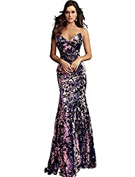 Black Multi Sequin Fitted Strapless Prom Dress