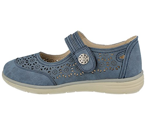 Walk Sintético Mujer Azul Cushion Plano Material De SBwAdq