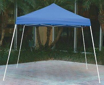 10x10 Slant Leg Pop-up Canopy, Blue Cover, Blue Roller Bag by ShelterLogic