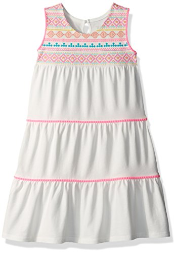 The Children's Place Baby Girls' Toddler Sleeveless Casual Dresses, Simplywht 0013, 3T