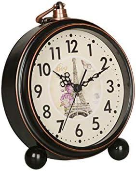 KEHUITONG 目覚まし時計、サイレントパーソナリティベッドサイド置時計、デスクトップのレトロな小型時計、ヨーロッパのミニマリスト、寝室の学生用時計、パリの塔、電池式 最新スタイル (Color : Eiffel Tower)