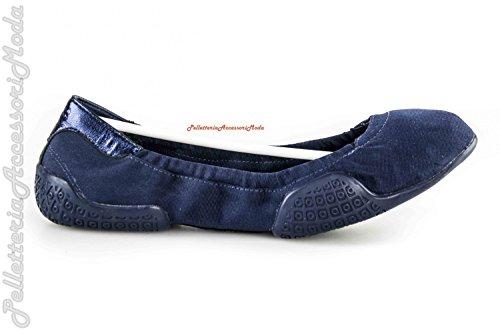 Scarpe donna Y-3 YAMAMOTO ballerine pelle e tessuto N.40 blu ADIDAS X903