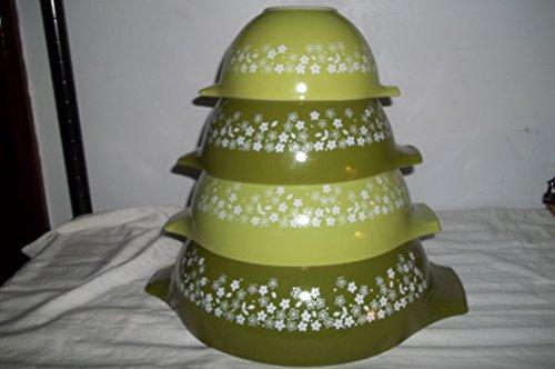 Pyrex Crazy Daisy II 441,442,443,444 cinderella Mixing Bowl Set