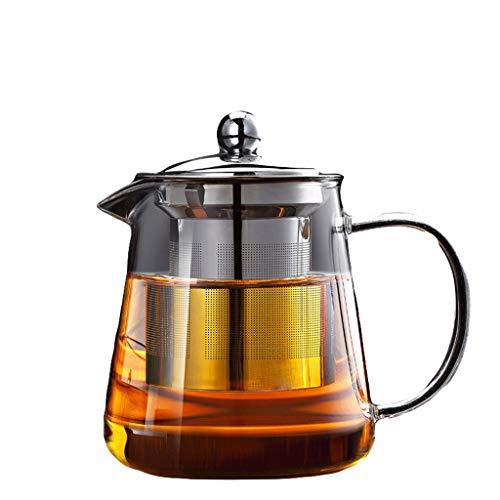 Glass Tea Set Elegant Cup Teapot High Temperature Thickening Teapot Stainless Steel Filter Leak Office Tea Ceremony Pot Household Kettle Tea Pots (Capacity : D)