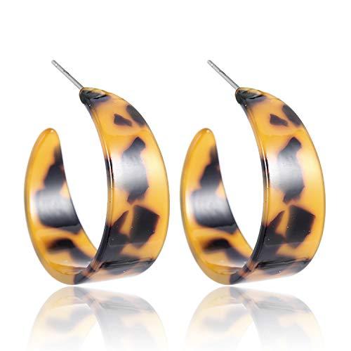 Vintage Acrylic Leopard Print Dangle Earrings For Women Multicolored Big Geometric Long Drop Earring 2019 Bohemian Jewelry,JER012 (Best Selling Products On Etsy 2019)