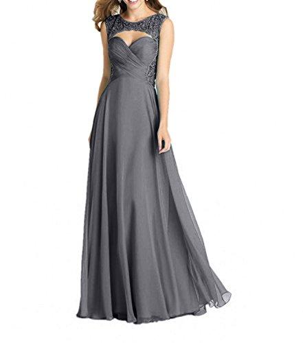 Abendkleider Grau Perlen Partykleider Festlichkleider mia Damenmode La Linie A Ballkleider Formalkleider Brau Elegant Lang HqxFTAwB