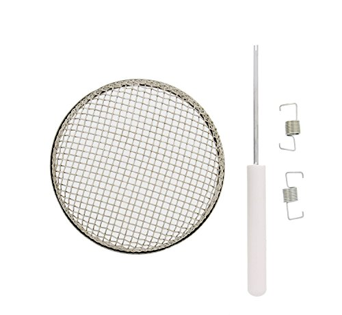 ABN RV Furnace Vent Cover Replacement with Installation Tool, 3.6in x 1.3in - Camper Trailer Bug Insect Screen