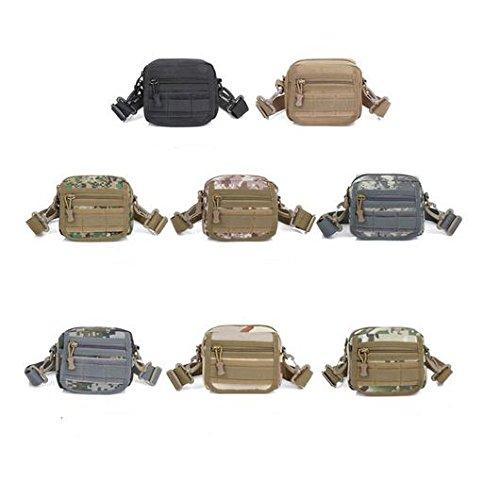 zll/combinación Small teléfono celular del paquete multifunción de demolición Mochila Ejército Hombres y Mujeres Perdido Monedero Crossbody Bolsa de hombro, three color delete
