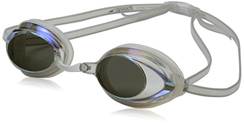 Speedo Women's Vanquisher 2.0 Mirrored Goggles, Clear, One - Are Lenses Uv Polarized Protected