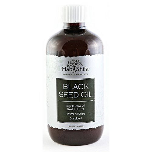 Hab Shifa Pure Cold Pressed Black Seed Oil – Australian Nigella Sativa Black Cumin Seed Oil - 8.5 Ounces by Hab Shifa