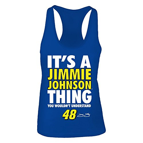 FanPrint Jimmie Johnson Tank Top - It's AThing, You Wouldn't Understand - Women's Tank Top/Royal/L