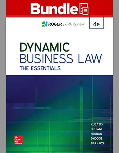 GEN COMBO LOOSELEAF DYNAMIC BUSINESS LAW: THE ESSENTIALS; CONNECT ACCESS CARD