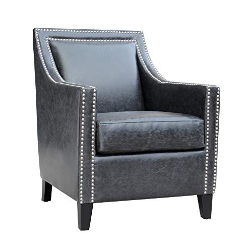 Moe's Home Collection Bradford Club Chair, Black (Furniture Bradford Collection)