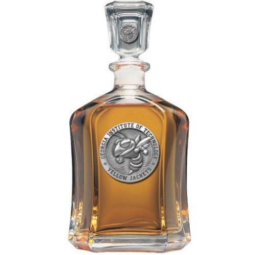- Heritage Metalwork Georgia Tech GT Decanter Whiskey Liquor Bottle