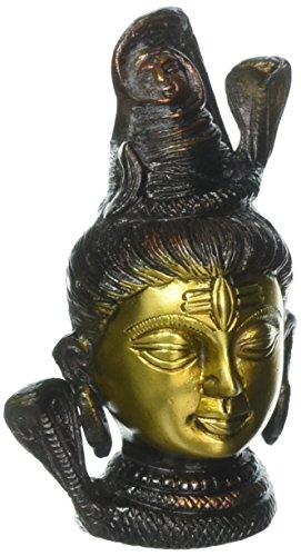 AONE INDIA Antiguo Señor Shiva Estatua de latón de Cabeza–Metal clásico Idol Escultura + Dinero en Efectivo Sobre...