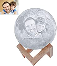 Engraved 3D Moon Lamp for Daughter,Personalized 5.9 Inch 3D Printing Moon Light Gift for Daughter Son Graduati