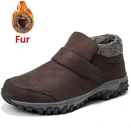 メンズ雪のブーツ暖かい冬のファッション古典的な作業靴快適なスエードノンスリップ耐摩耗性マルチカラーオプション (色 : 褐色, サイズ : 27 CM)
