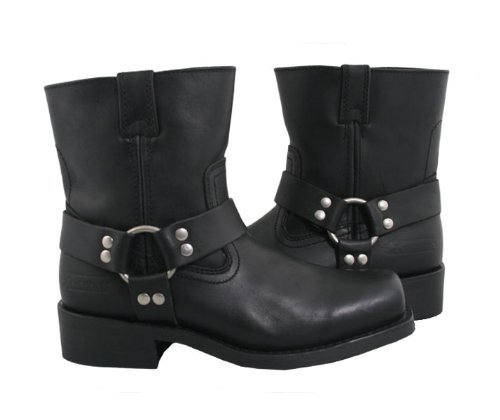 Xelement 1502 Mens Zipper Black Harness Motorcycle Boots - 13 by Xelement (Image #2)