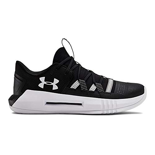 Under Armour Women's UA Block City 2.0 Volleyball Shoe, Black (001)/White, 8.5 M US ()