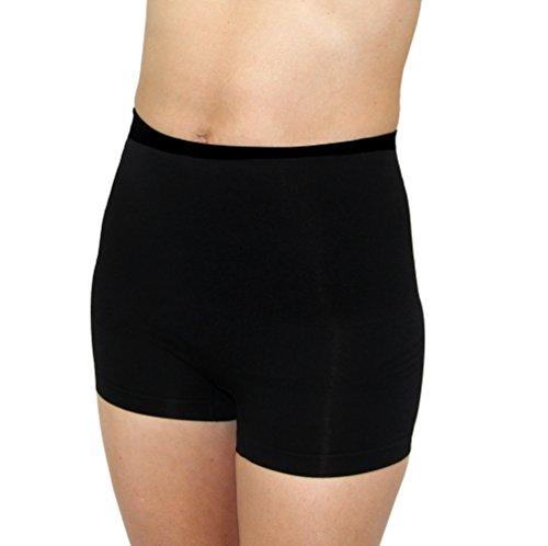 Leading Lady Women's Shapewear Boyshorts with Tummy Control, Black, Large