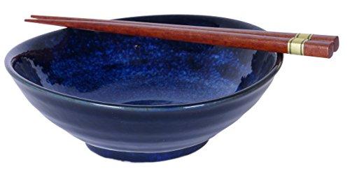 Spiceberry Home Cobalt Blue Shallow Bowls 7x2.5-Inch, SET OF FOUR -