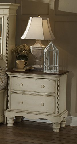 """Hillsdale Furniture 1172-771 Wilshire 30"""" Nightstand with 2 Drawers Tongue and Groove Drawer Bottoms and Solid Pine Wood Construction in Antique"""
