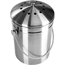 premium quality stainless steel compost bin 13 gallon includes charcoal filter utopia kitchen