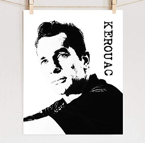 Jack Kerouac Portrait Fine Art Print on Cotton Paper, Sizes 8x10-16x20 **Unframed**