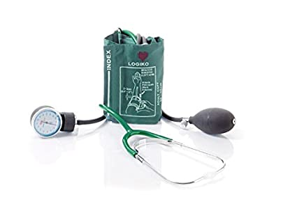 logiko – Tensiómetro ad aneroide coordinato – con Fonendoscopio (verde)