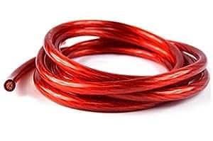 20'Ft 4GA rojo cable de alambre cable de tierra Primaria Amp Audio Audiopipe
