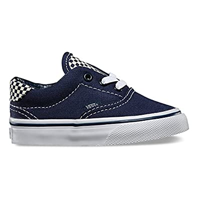 c68f08659f Amazon.com  Vans Toddlers Era 59 Checkerboard Navy Blue Glow in the Dark  Sneakers  Shoes