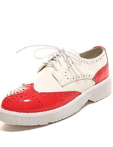 cn39 Mocasines us8 us8 eu39 red Negro Zapatos Tacón de mujer Punta red eu39 Rojo Redonda Cuñas Moda us6 cn37 Botas uk6 red Casual Patentado Cuña Exterior 5 gyht ZQ uk4 Cuero 5 la 7 a 5 uk6 eu37 F1qOWBUSS