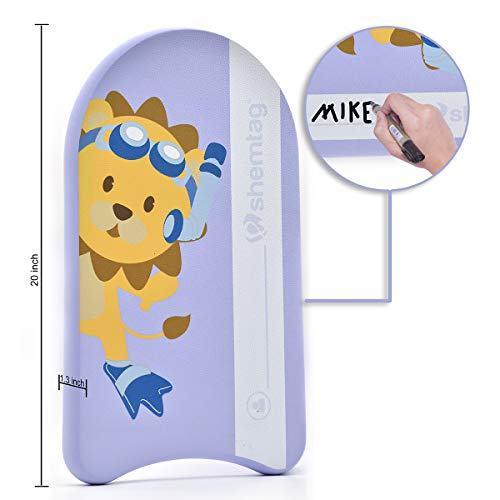Shemtag Lion Swimming Children kickboard personilized for Kids Pool/Beach. Free mesh Bag Included ()