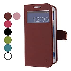 MOVSOINA PU Leather Case with Rose Magnetic Snap for Samsung Galaxy Note 2 N7100 (Assorted Colors) --- COLOR:Rose