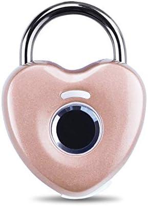 指紋ロック タッチロック ジムのドアバックパックバイクマルチカラーオプションのためのスマート指紋南京錠防水リモコンキーレスバイオメトリックロック 盗難防止セキュリティロック (色 : ピンク, サイズ : 4.5x6cm)