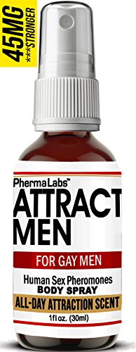 Gay Pheromones! Instantly Attract Men - - All Day Scent - - Body Spray for Gay Men- Highest Concentration Of Pheromone Possible- Increases Sex Drive- Fresh & Long-lasting Smell