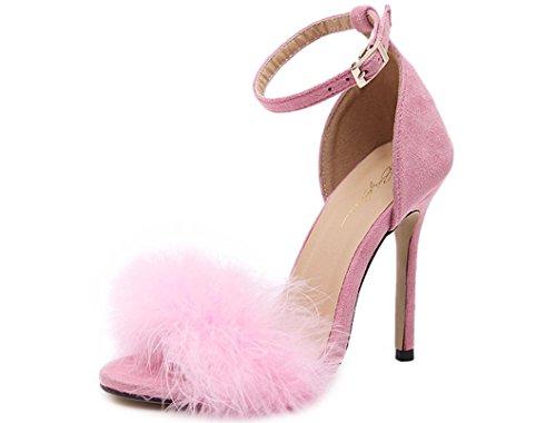 XDGG Women Feder Heel pink Sandalen High rrd6xq