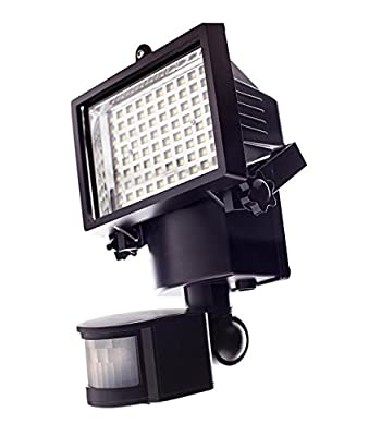 The Qualitus Super Bright 80 LED Waterproof Solar Powered Security Lights with Motion Sensor for Outdoor Garden Yard