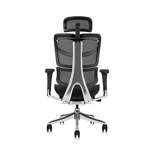 MOOJIRS Chaise de Bureau Ergonomique avec Appui-Tête Réglable et Limiteur d'nclinaison | Réglage de la Hauteur du…