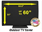OUTDOOR TV COVER (55, Black (Not For Direct Sun))