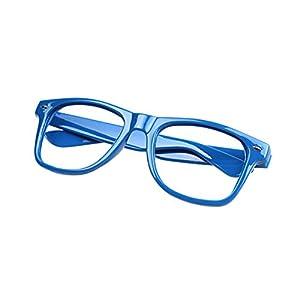 FancyG Classic Retro Fashion Style Clear Lenses Glasses Frame Eyewear - Navy Blue