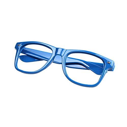 FancyG Classic Retro Fashion Style Clear Lenses Glasses Frame Eyewear - Navy - Blue Glass Frames